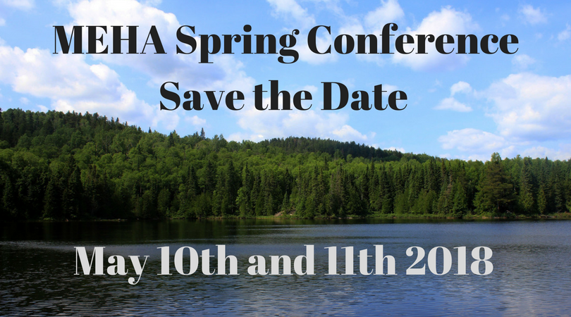 MEHA Spring Conference May 10th and 11th